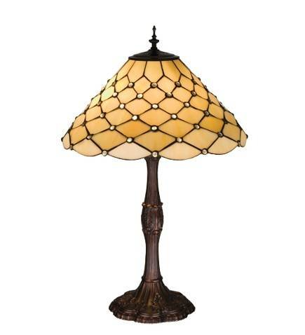 Meyda Tiffany Scalloped Jewel Cone Table Lamp