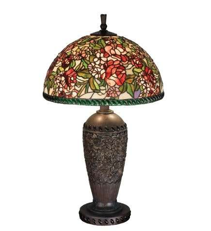 Meyda Tiffany Romance Rose Table Lamp