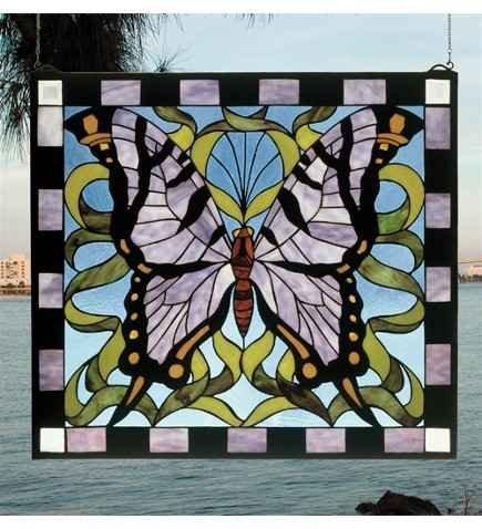 Meyda Tiffany Purple Butterfly Window