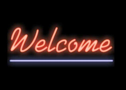 Welcome Neon Business Sign