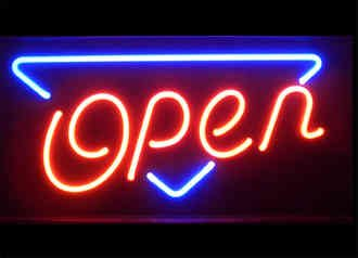 Open Neon Business Sign
