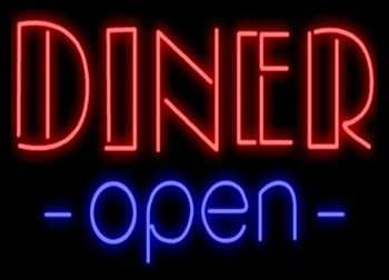 Diner Open Neon Business Sign