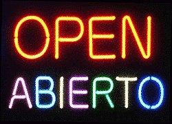 Open- Abierto Neon Sign
