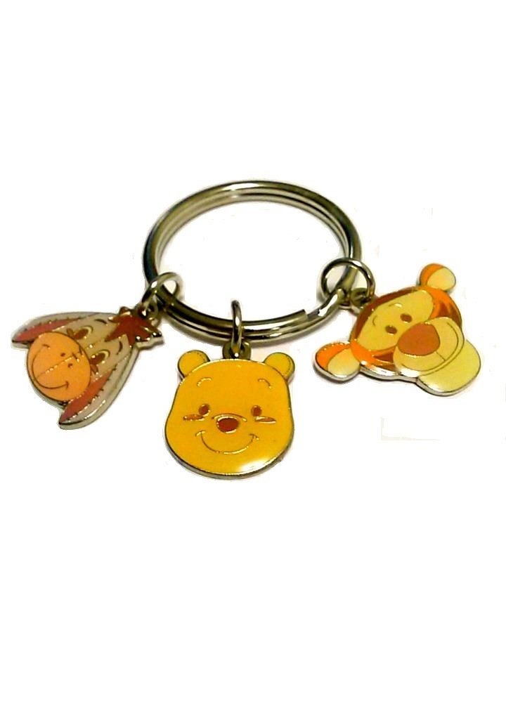 Disney Winnie the Pooh Key Chain with Friends Tigger and Eeyore