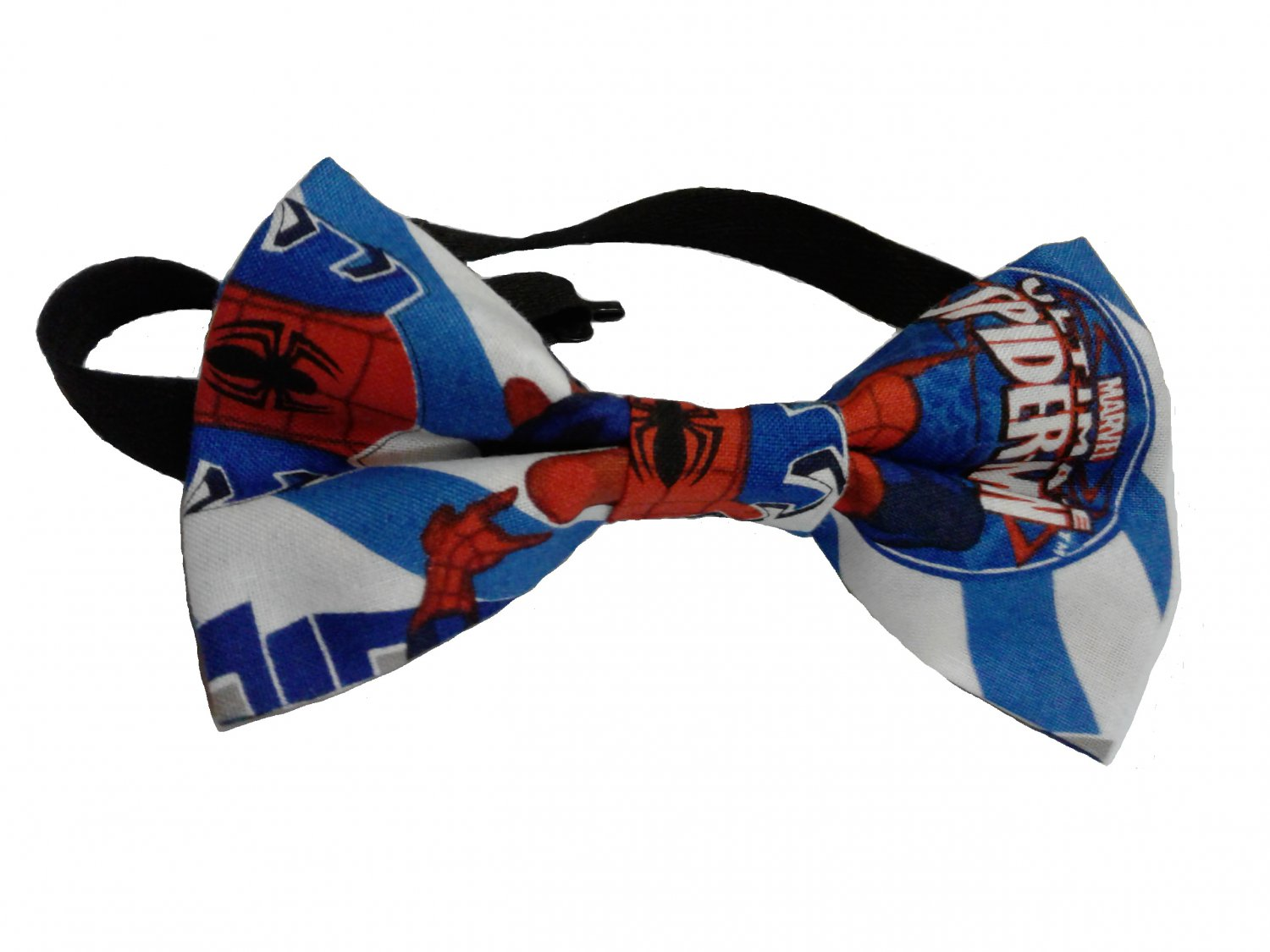 Spiderman Pretied Bow Tie Cotton, Ages 6 to 12, Adjustable to 16 Inches