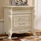 European wood nightstand simple French bedroom mini storage small bedside cabinet