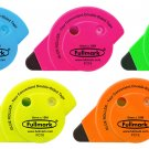 Fullmark Stationery Permanent Adhesive / Glue Tape Roller 5pack Assorted Colors - 6mm X 18m each