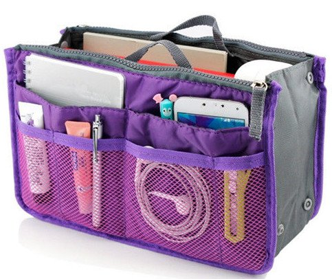 Purple Cosmetic Bag Female Makeup Bags Organizer Women Travel Beauty Bags Lady Cosmetic Bag