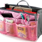 Light Pink Women Multifunction Makeup Organizer Bag Ladies Wash Cosmetic Bags Travel Storage Bag