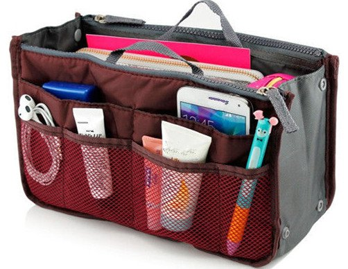 Wine Red Makeup Organizer Bag Women Cosmetic Bags Toiletry Kits Travel Bags Ladies Bolsas