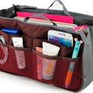 Wine Red Makeup Organizer Bag Women Cosmetic Bags Toiletry Kits Travel Bags Ladies Bolsas
