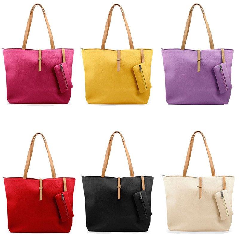 Lady Womens Faux Leather Messenger Handbag Fashion PU Shoulder Bag Totes Purse
