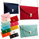 Fashion Womens PU Envelop Bags Crossbody Shoulder Bag Handbag Girls Satchel Tote Clutch Bags