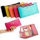 Fashion Womens Leather Clutch Wallets Long Card Holder Female Coin Purse Handbag