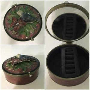 Trinket Jewelry Box With Mirror