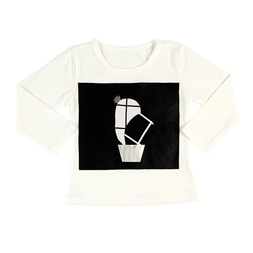 Cactus White Long Sleeve T-shirt