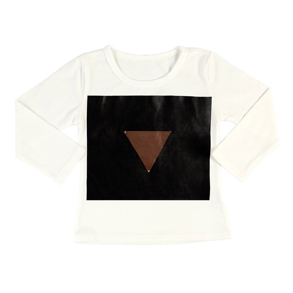 Triangle White Long Sleeve T-shirt