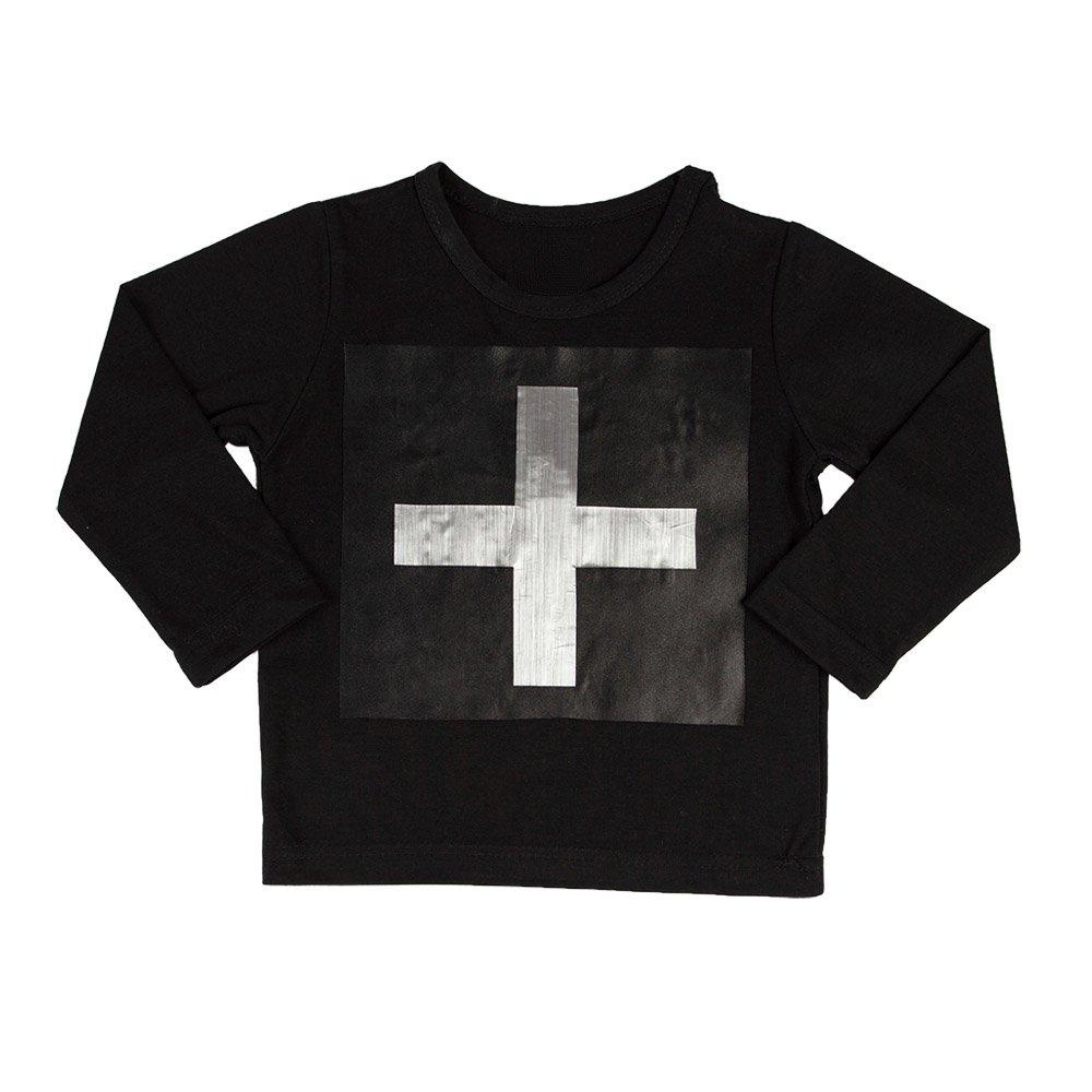 Cross Silver Long Sleeve T-shirt