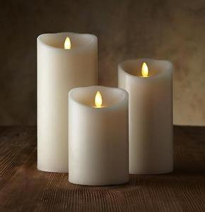 "Luminara Flameless Candle - 3.5"" Dia. Classic Pillar - Ivory Vanilla Scented"