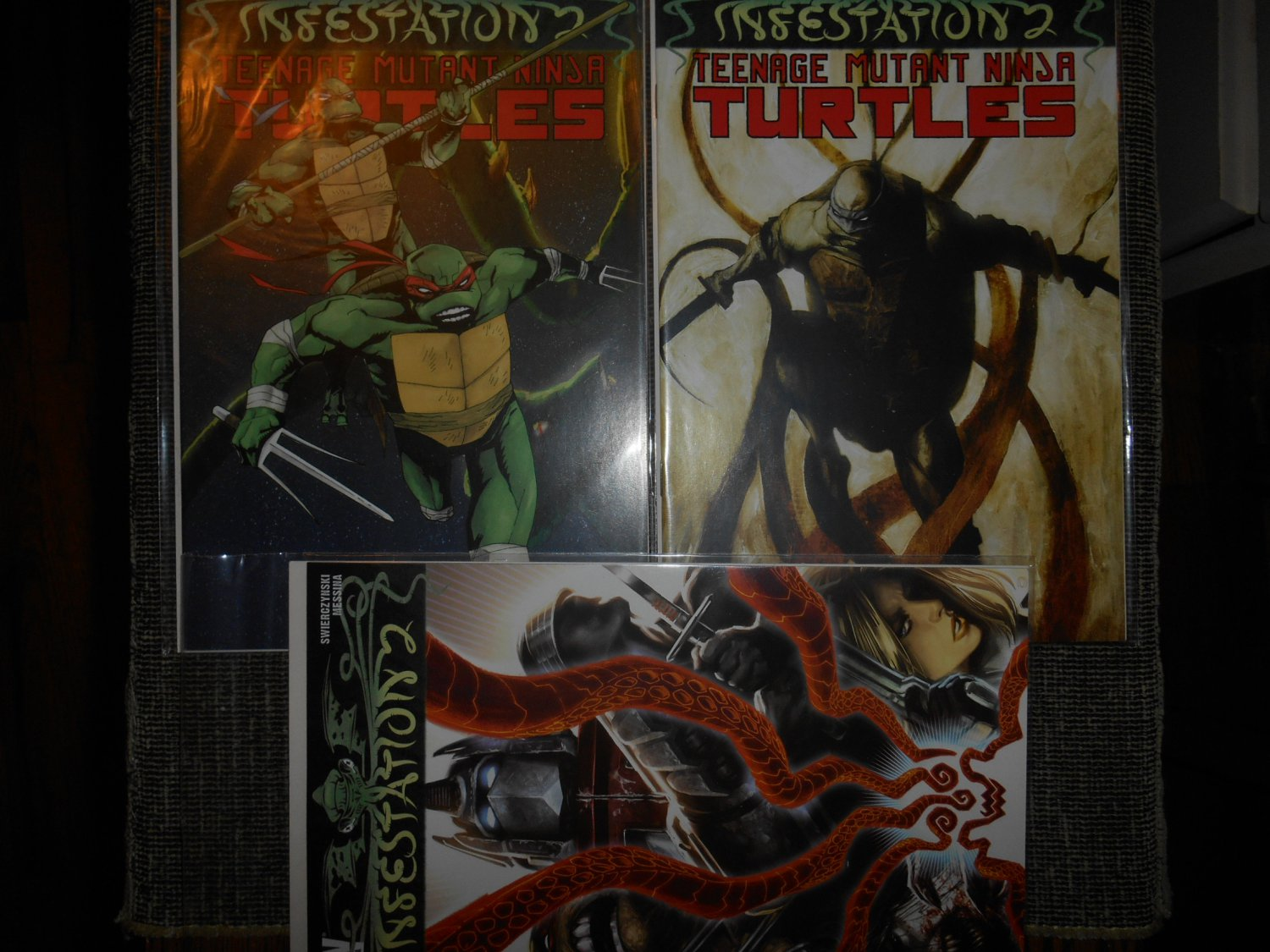 Infestation 2 Ninja Turtles Comic - David Messina - Rare - Incomplete � IDW Comics - Very Fine-