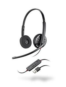 NEW Plantronics 85619-02 Blackwire C320 Over the Head Stereo Corded Headset New