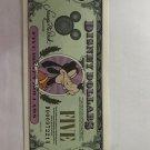 1998 $5.00  Disney dollar bill.