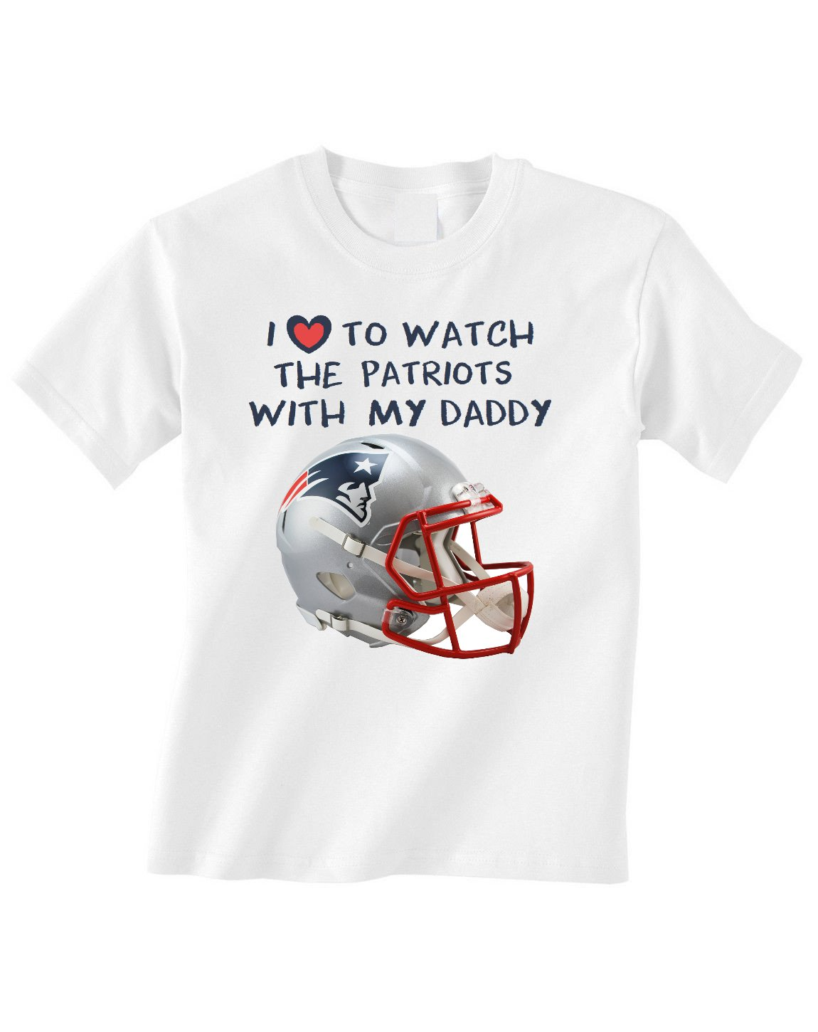 96961c9b New England Patriots Tshirt Love To Watch With Daddy