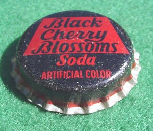 Bottle Cap  Black Cherry Blossoms - Bottle Cap Soda