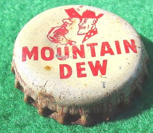 Bottle Cap - Vintage  Mt. Dew (Pittsburgh, Kansas Pepsi Co.)