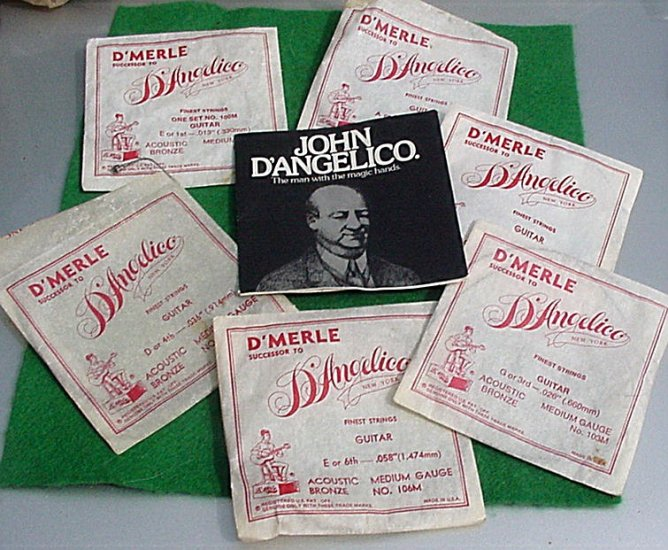 D'Merle Dangelico Guitar Strings