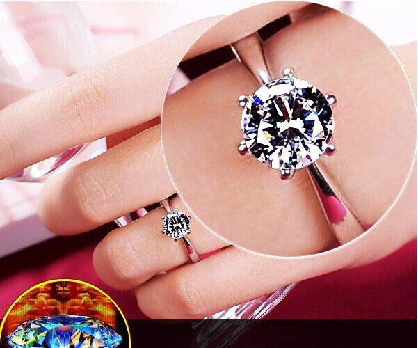 1.2 Carat Solitare Ring Size 8