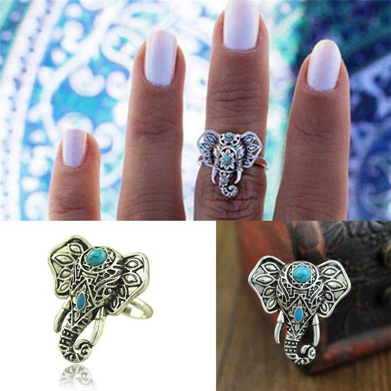 Elephant Head Adjustable Ring