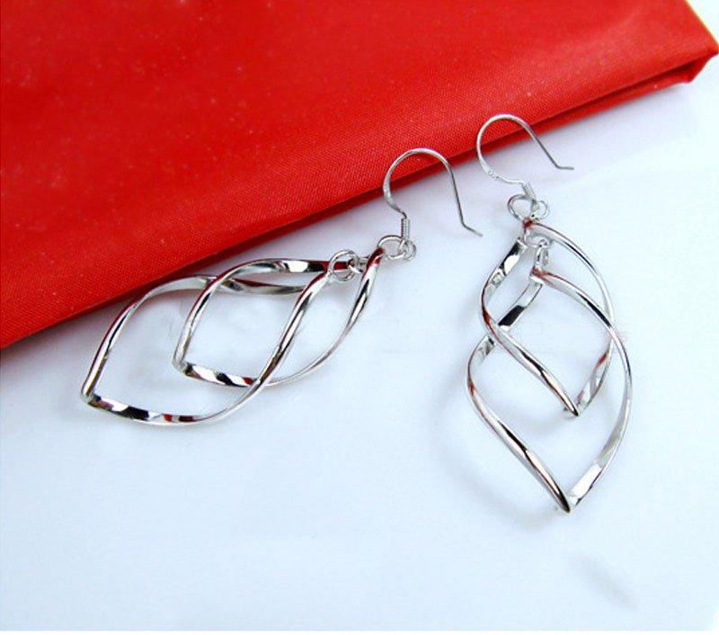 Silver Double Dangle Earrings