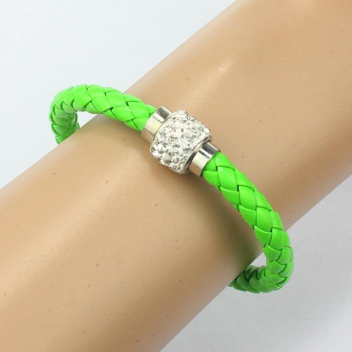 Green Magnetic Cord Bling Bracelet