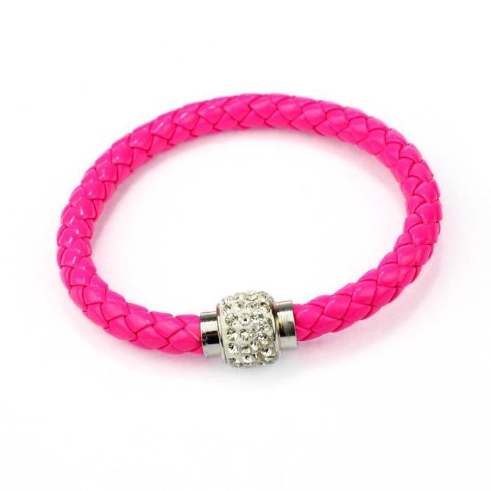 Pink Magnetic Cord Bling Bracelet
