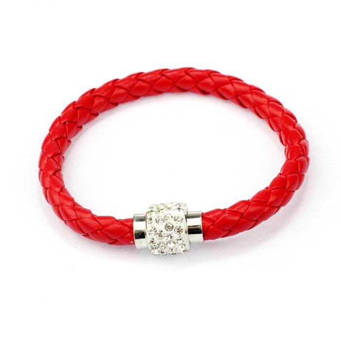 Red Magnetic Cord Bling Bracelet