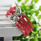 Red Infinity Butterfly Love Bracelet
