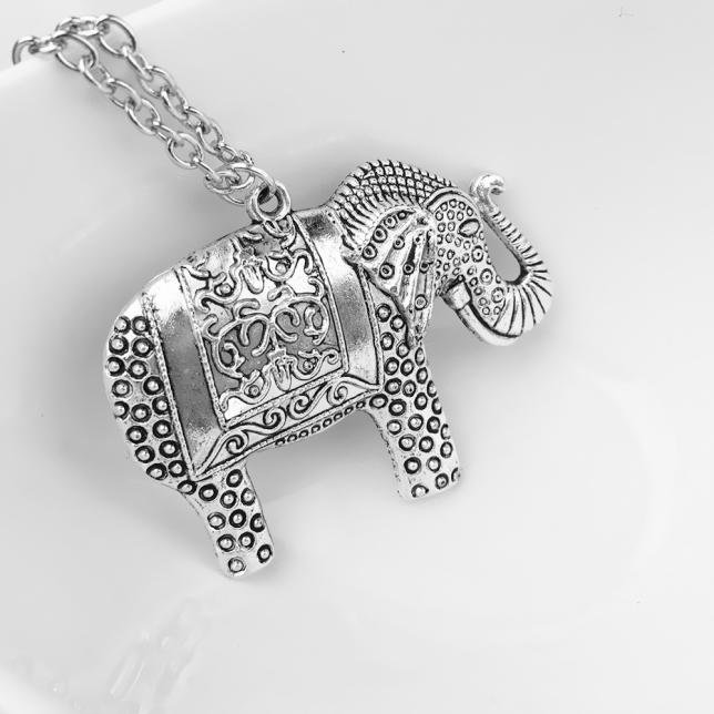 Elephant Silver Necklace