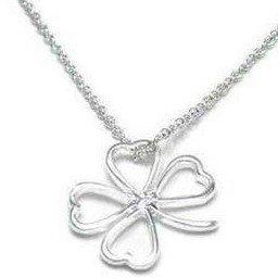 4 leaf Clover Silver Necklace