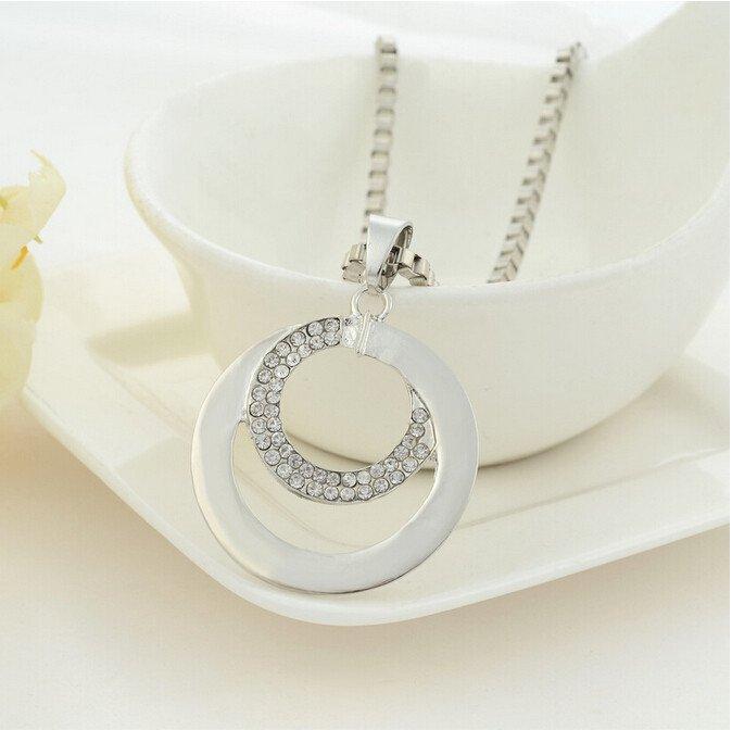 Silver Circle Necklace