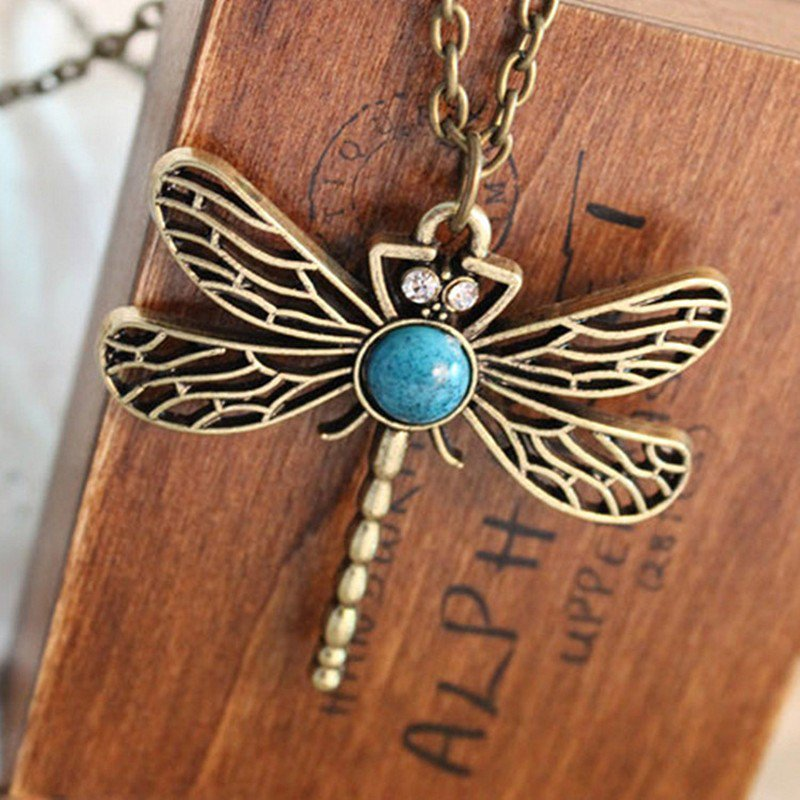 DragonFly Bronze Necklace