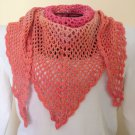 Orange Cherry Ombre Shawl Scarf Wrap Wool Vibrant Multi-Color Wool Easy Care