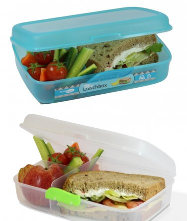 Multi Compartment Lunch Box Container 60.8 OZ (1.8 L) SET OF 2 BOXES - BPA FREE