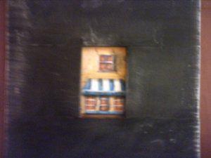 SIDEWALK CAFE... ACEO tiny painting... original