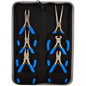 "6pc Jewelers Pliers Set Jewelry Making Beading Craft 5"" Mini Plier Kit"
