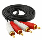 (5-pack) 2-RCA Stereo Analog Audio Cable 2-RCA Male to Male, 5ft 5X
