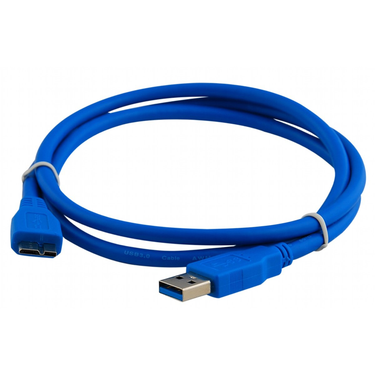 Premium Quality Blue 3FT 3Feet USB 3.0 A Male to Micro B Male Cable