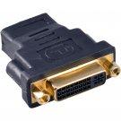 (5-pack) DVI-I Female to HDMI Female F/F Adapter Converter Coupler 24+5 pin 5X