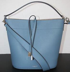 NWT~Authentic Michael Kors Miranda Medium Leather Shoulder Bag ~Cornflower $790
