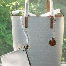 Michael Kors Hayley MK Signature Large Convertible Tote Handbag ~Vanilla~BNWT